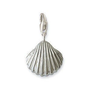 Mothers' and Children's Charms:  Silver Plated Shell Charms