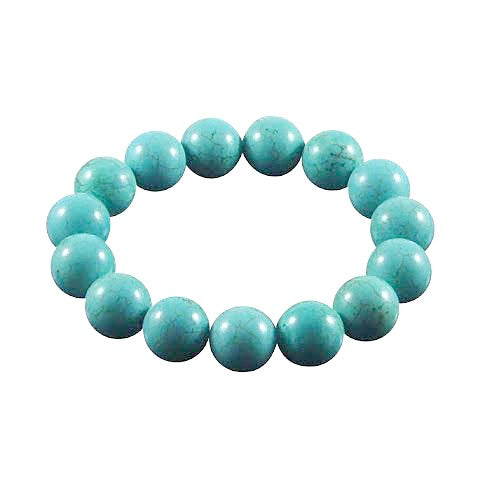 Children's and Teens' Bracelets:  Reconstituted Turquoise Ball Bracelets