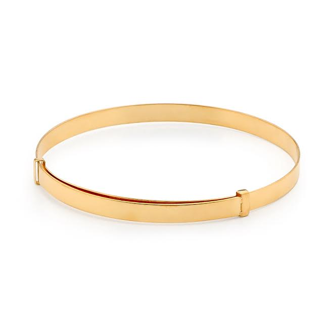 Baby and Children's Bangles:  Piccolo 9k Gold Adjustable Bangles with Complimentary Gift Boxes