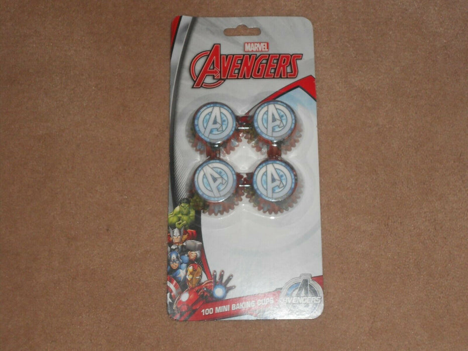 AVENGERS ASSEMBLE 100 MINI BAKING CUPS