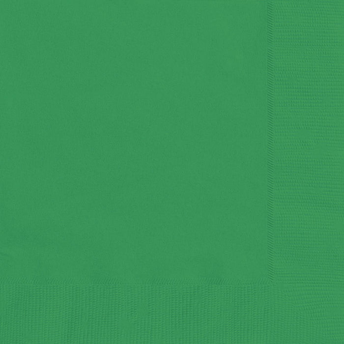 EMERALD GREEN LUNCH NAPKINS 20CT