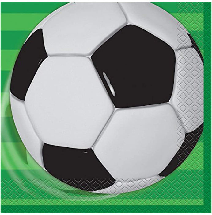 3D SOCCER LUNCH NAPKINS  16CT