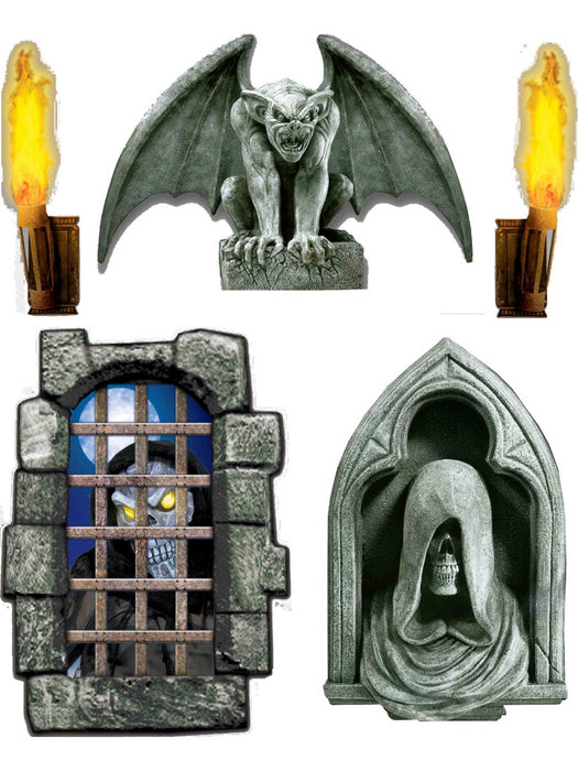 DUNGEON CREEPY 5 GIANT WALL DECORATION