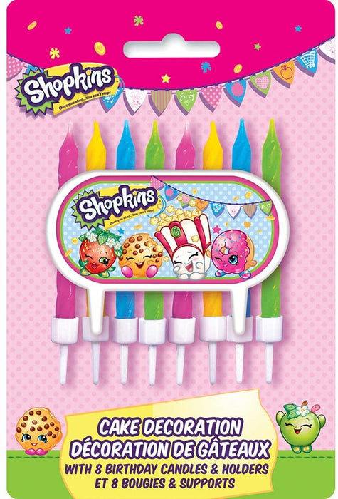 SHOPKINS CAKE DECORATION CANDLES