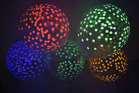 "11"" ASSORTED NEON COLORS CONFETTI CLEAR LATEX BALLOON 5PK *BLACKLIGHT REACTIVE*"