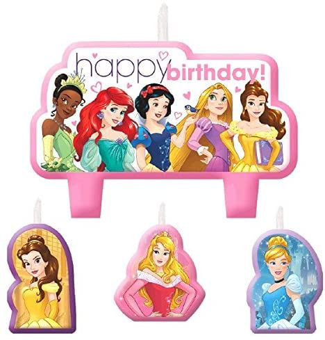 DISNEY PRINCESS BIRTHDAY CANDLES SET