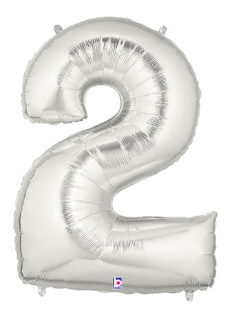 "40"" NUMBER TWO (2) FOIL BALLOON"