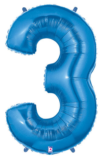 "40"" NUMBER THREE (3) FOIL BALLOON"