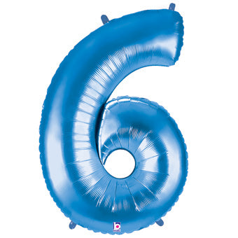 "40"" NUMBER SIX (6) FOIL BALLOON"