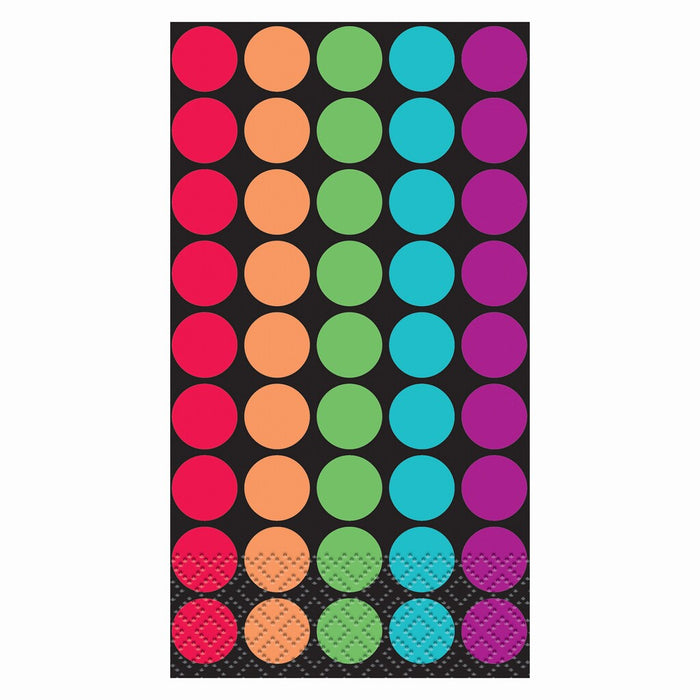 RETRO DOTS  GUEST NAPKINS 24CT