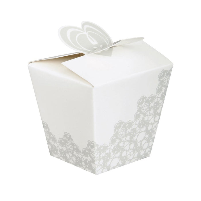 LACE WEDDING FAVOR BOXES