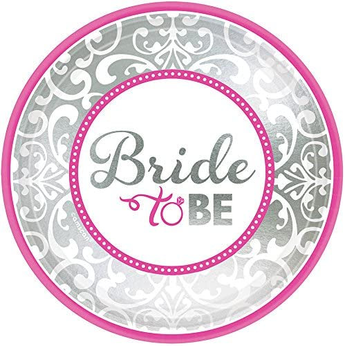 "7"" BRIDE TO BE PLATES"
