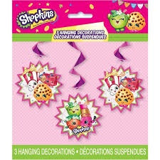 SHOPKINS HANGING DECORATIONS 3CT