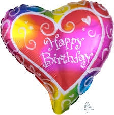 "18"" HAPPY BIRTHDAY WATERCOLOR FOIL BALLOON"
