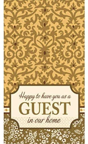 """WELCOME GUEST"" GUEST NAPKINS 16CT"