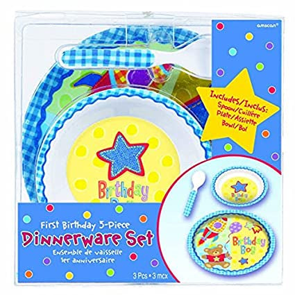 FIRST BIRTHDAY DINNERWARE SET