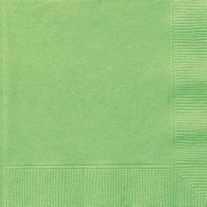 LIME GREEN LUNCH NAPKINS 20CT