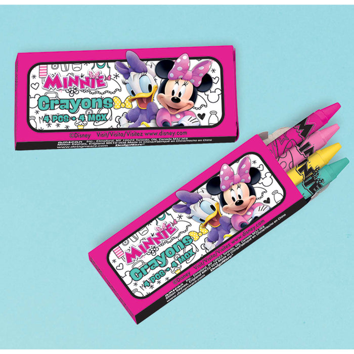 MINNIE MOUSE HAPPY HELPERS CRAYONS 12CT