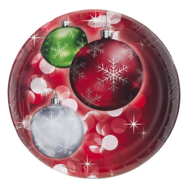BRIGHT BAUBLES LUNCH PLATES 8CT