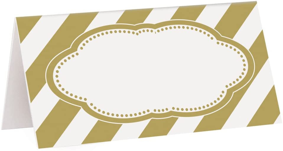 GOLDEN PLACE CARDS 16CT