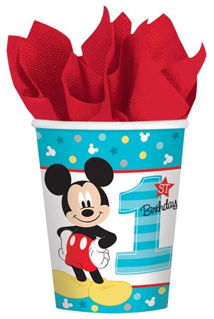 9OZ MICKEY MOUSE FUN TO BE ONE CUPS 8CT