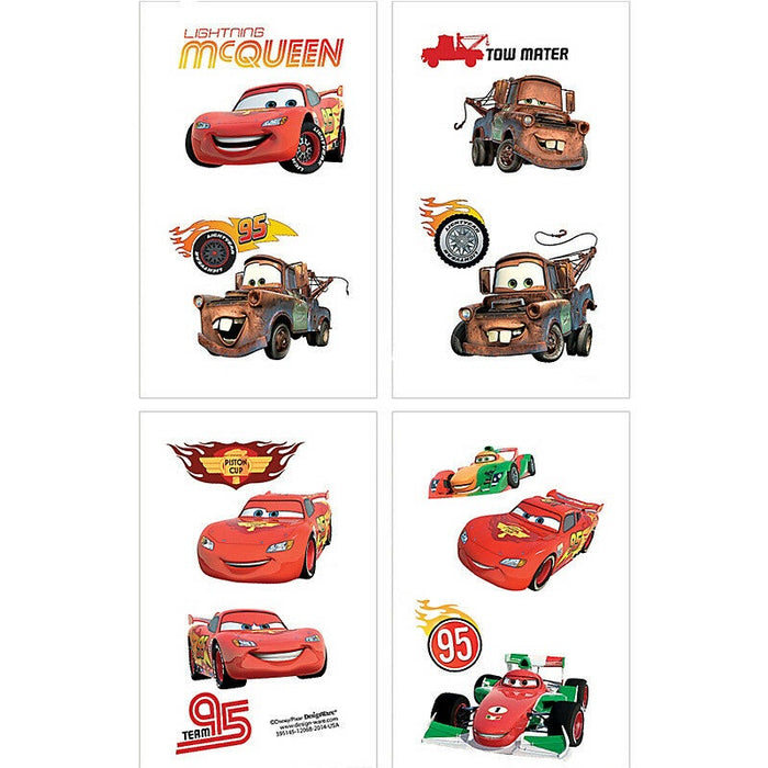 CARS TATTOOS 16PCS