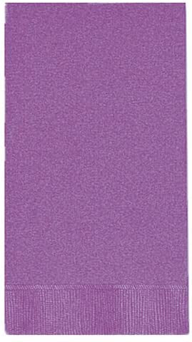 PURPLE GUEST NAPKINS 20CT