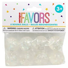 8CT GLITTER BOUNCE BALLS FAVORS