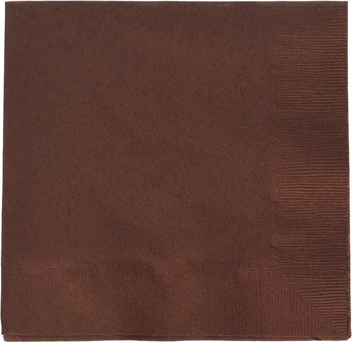 BROWN LUNCH NAPKINS 20CT