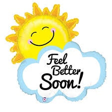 "31"" FEEL BETTER SOON SUNSHINE FOIL BALLOON"