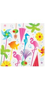 SUMMER COCKTAIL BEVERAGE NAPKINS  16CT