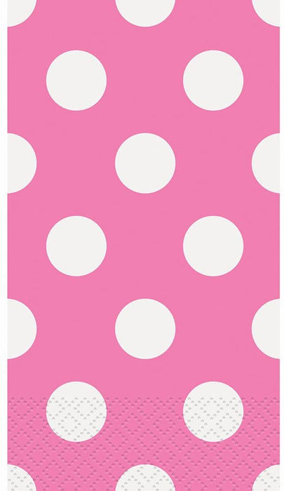 HOT PINK DOTS GUEST NAPKIN 16CT