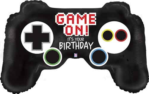 "36"" GAME CONTROLLER BIRTHDAY FOIL BALLOON"