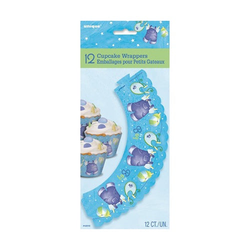BLUE CLOTHESLINE CUPCAKE WRAPPERS