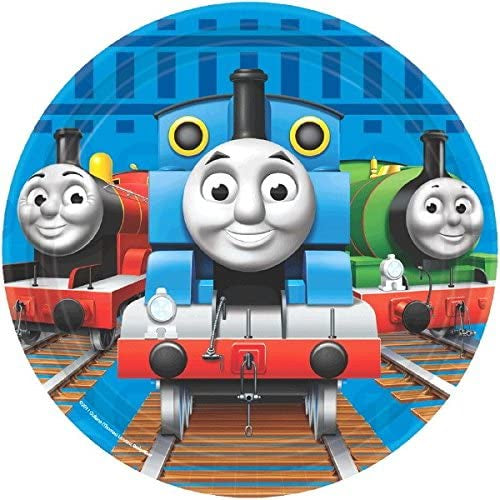 "7"" THOMAS AND FRIENDS DESSERT PLATES 8CT"