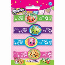 SHOPKINS BRACELETS FAVORS 4CT