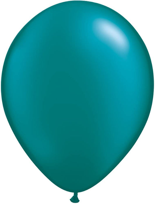"11"" PEARL TEAL QUALATEX"