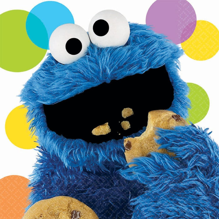 COOKIE MONSTER SESAME STREET LUNCH NAPKINS 16CT