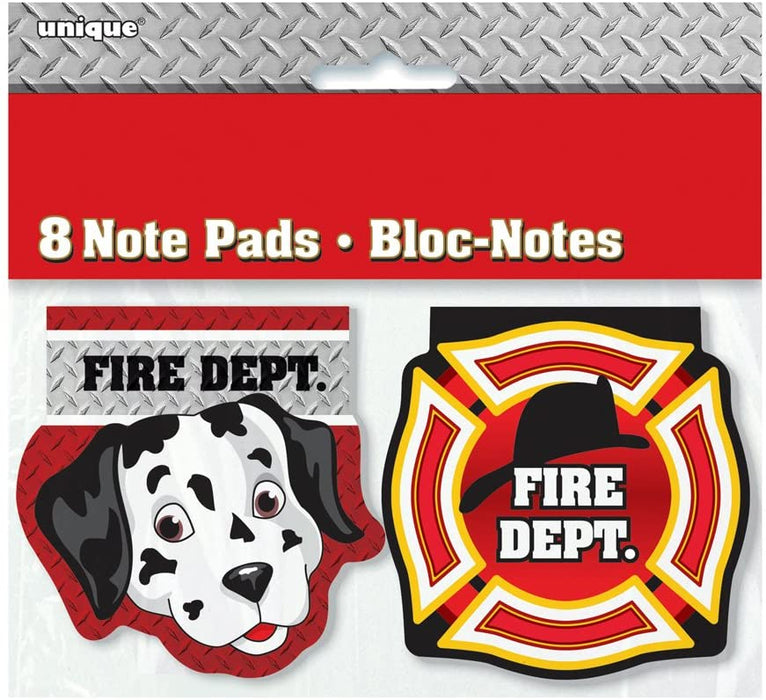 FIRE TRUCK NOTE PADS 8CT