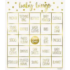 BABY SHOWER BINGO GAME KIT FOR 8 PLAYERS