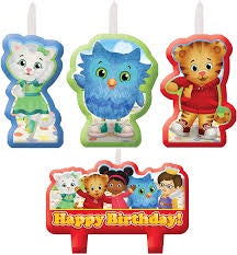 DANIEL TIGER BIRTHDAY CANDLE SET 4PCS