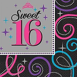 SWEET SIXTEEN CELEBRATION LUNCH NAPKINS 16CT