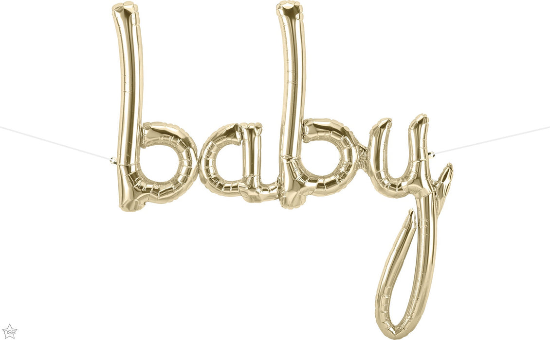 BABY PHRASE AIR FILLED FOIL BALLOON