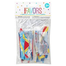 8CT AIRPLANE GLIDER KITS FAVORS