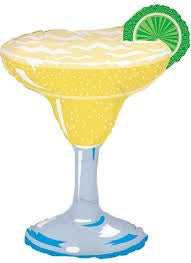 "36"" MARGARITA GLASS WITH LIME FOIL BALLOON"