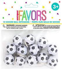 12CT SOCCER BALL KEYCHAINS FAVORS