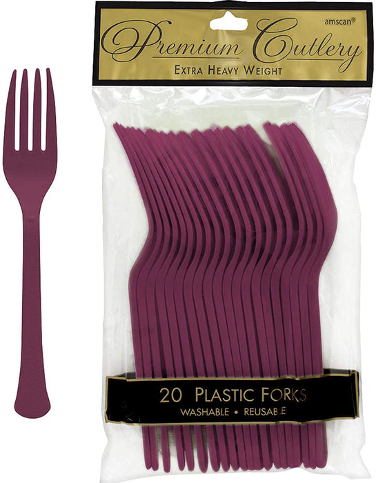 BERRY  PLASTIC FORK 20CT