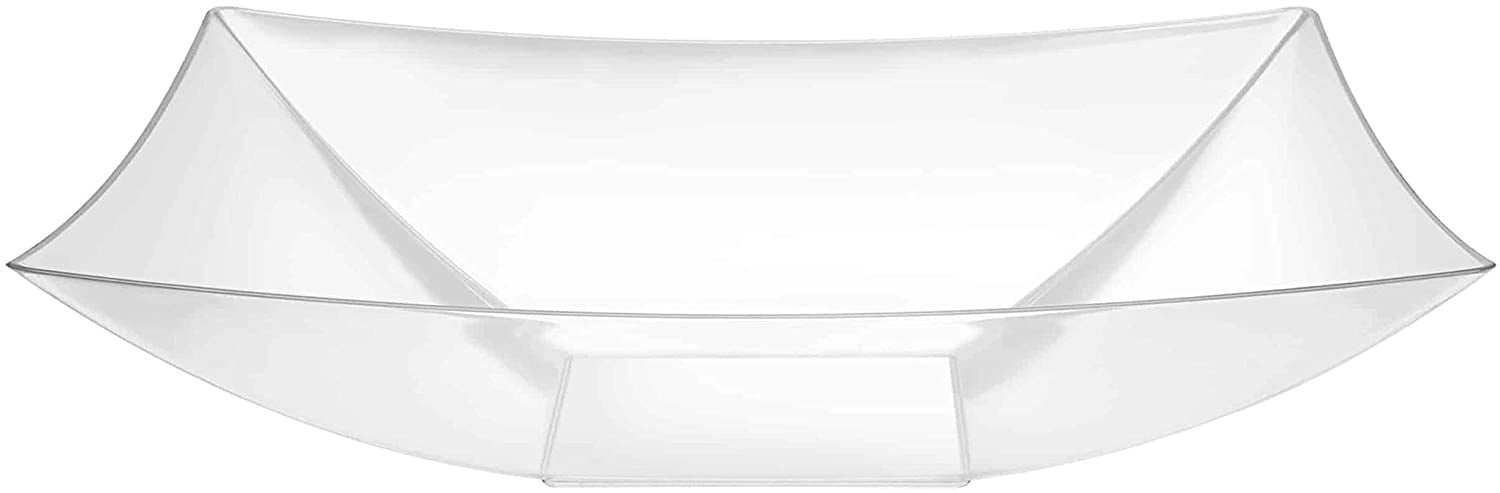 64 oz CLEAR PLASTIC RECTANGULAR  BOWL