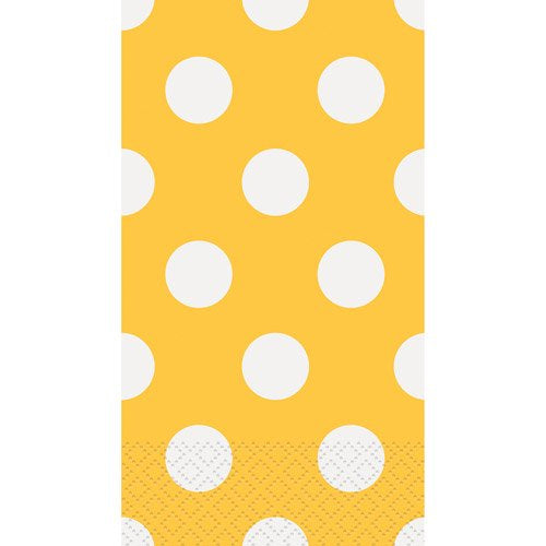 YELLOW DOTS GUEST NAPKINS 16CT