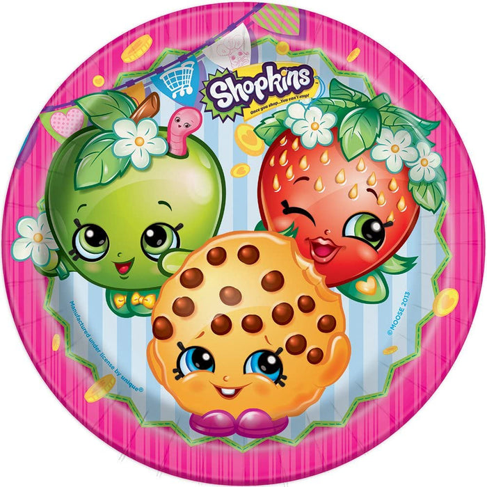 "9"" SHOPKINS ROUND PAPER LUNCH PLATES 8CT"